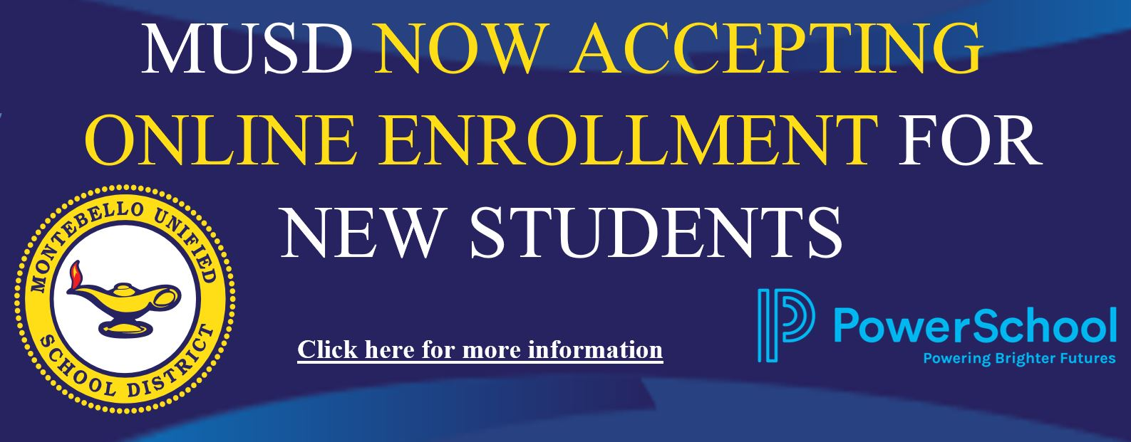 Online enrollment. Click for link