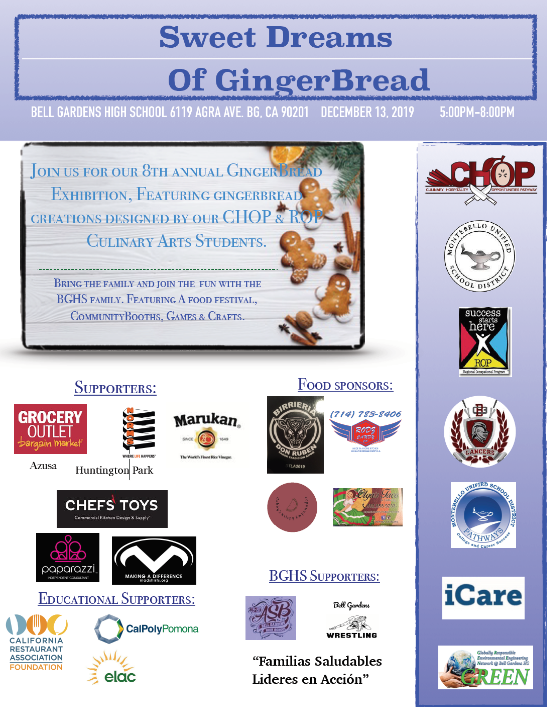 Gingerbread Exhibition Flyer