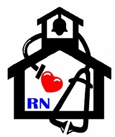 schoolhouse with wrapped stethoscope and heart at center