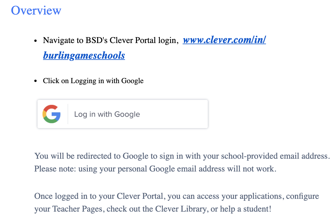 how to log into clever