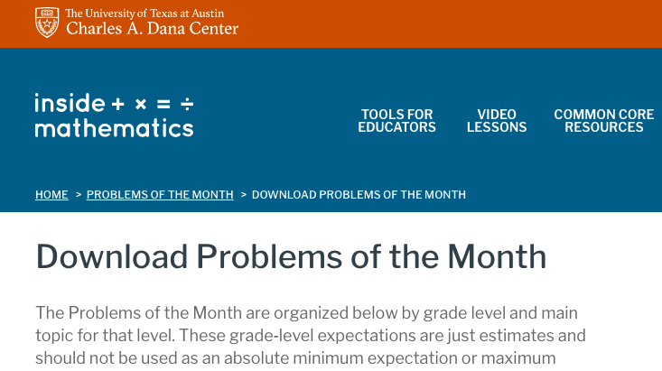 Problem of the Month