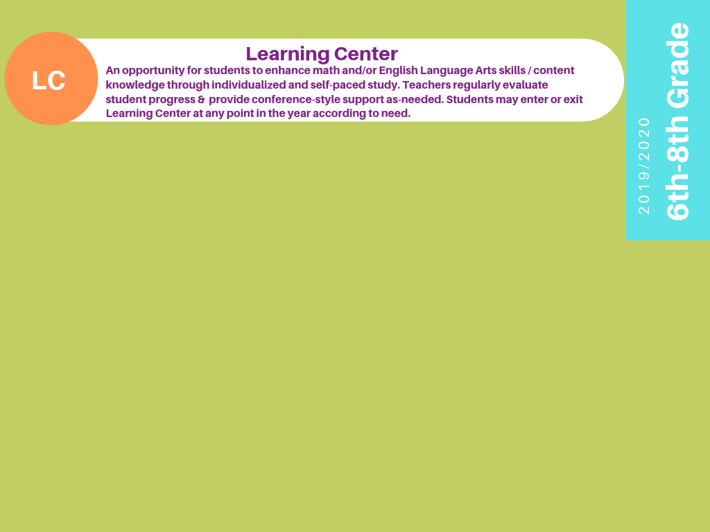 6th-8th Learning Center Infographic