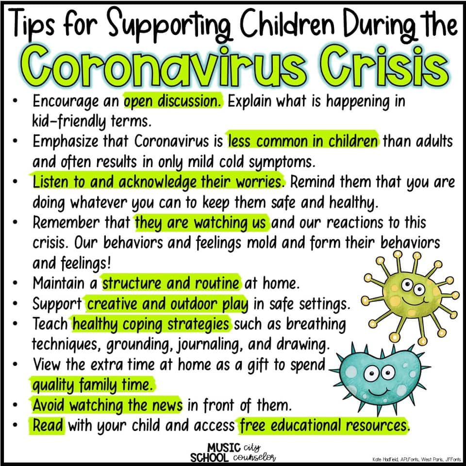 Tips for Supporting Children During the Coronavirus Crisis