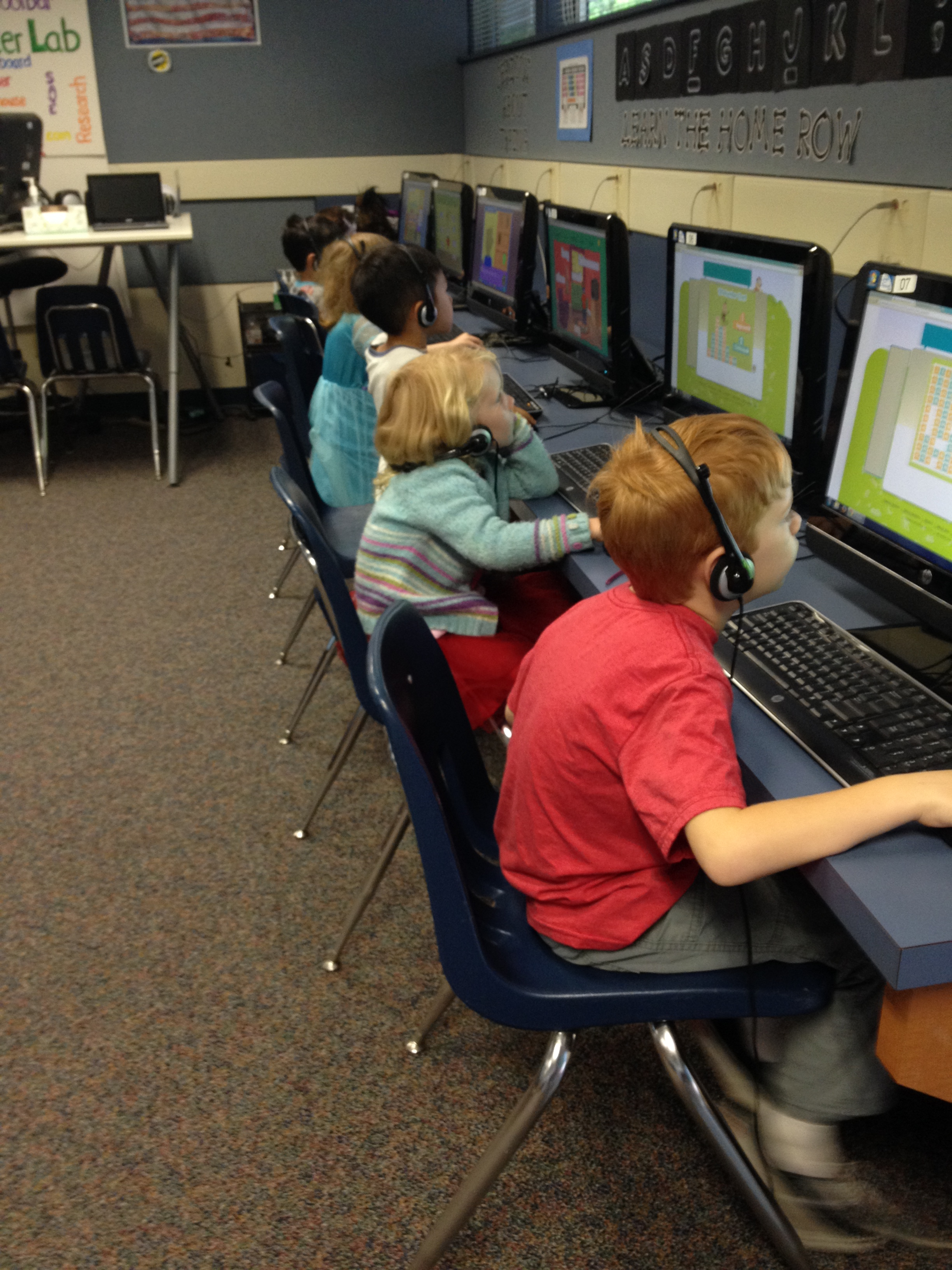 students on Lexia