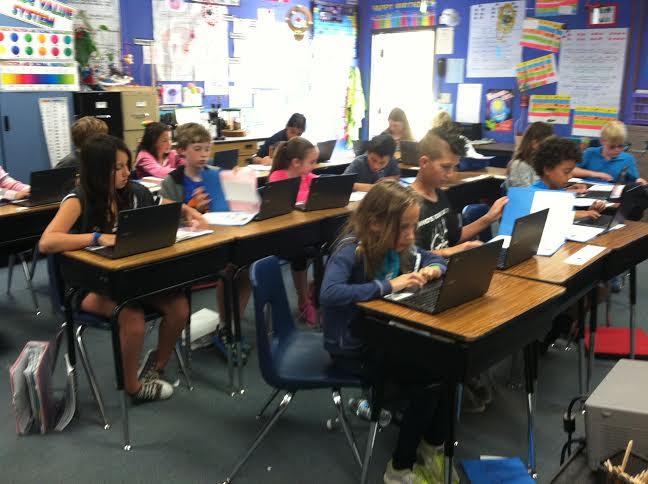 chromebooks in a classroom