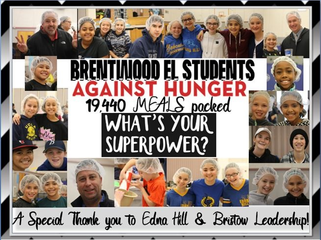 BW El Students Against Hunger