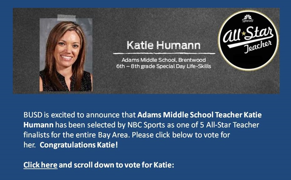 All Star Teacher Katie Humann