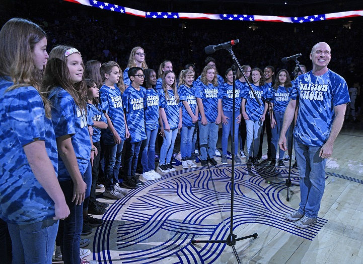 BMS Choir Performs at Warriors Game