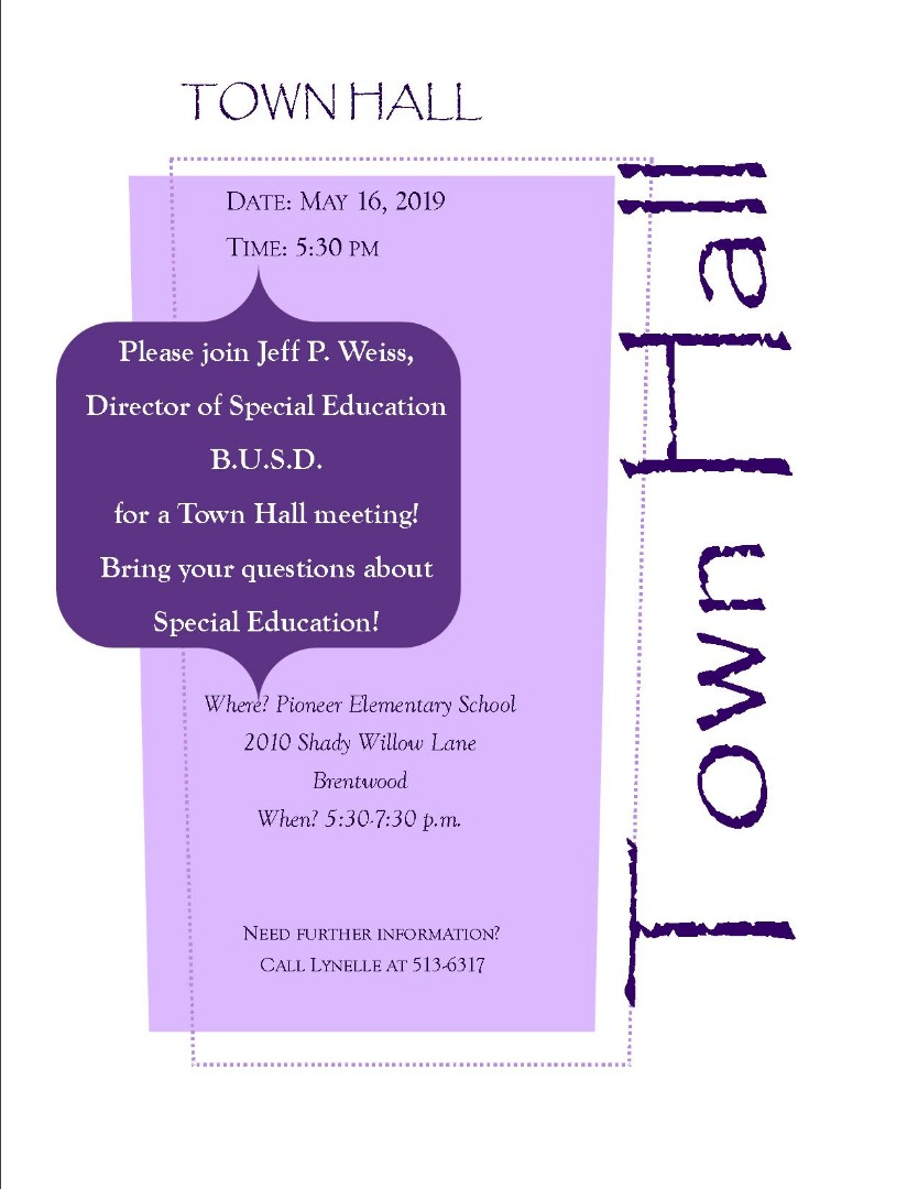 Come to our Town Hall Meeting on May 16th!