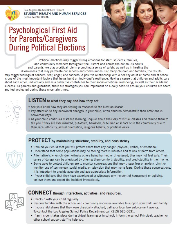 psych first aid political elections flyer