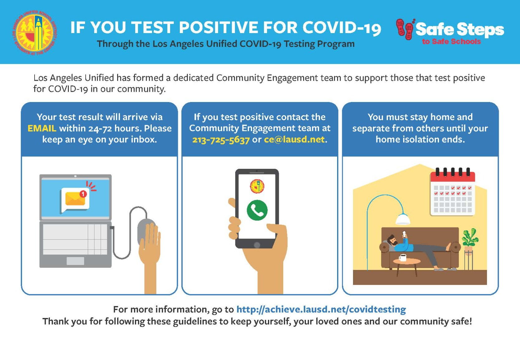 if you test positive for covid instrctions