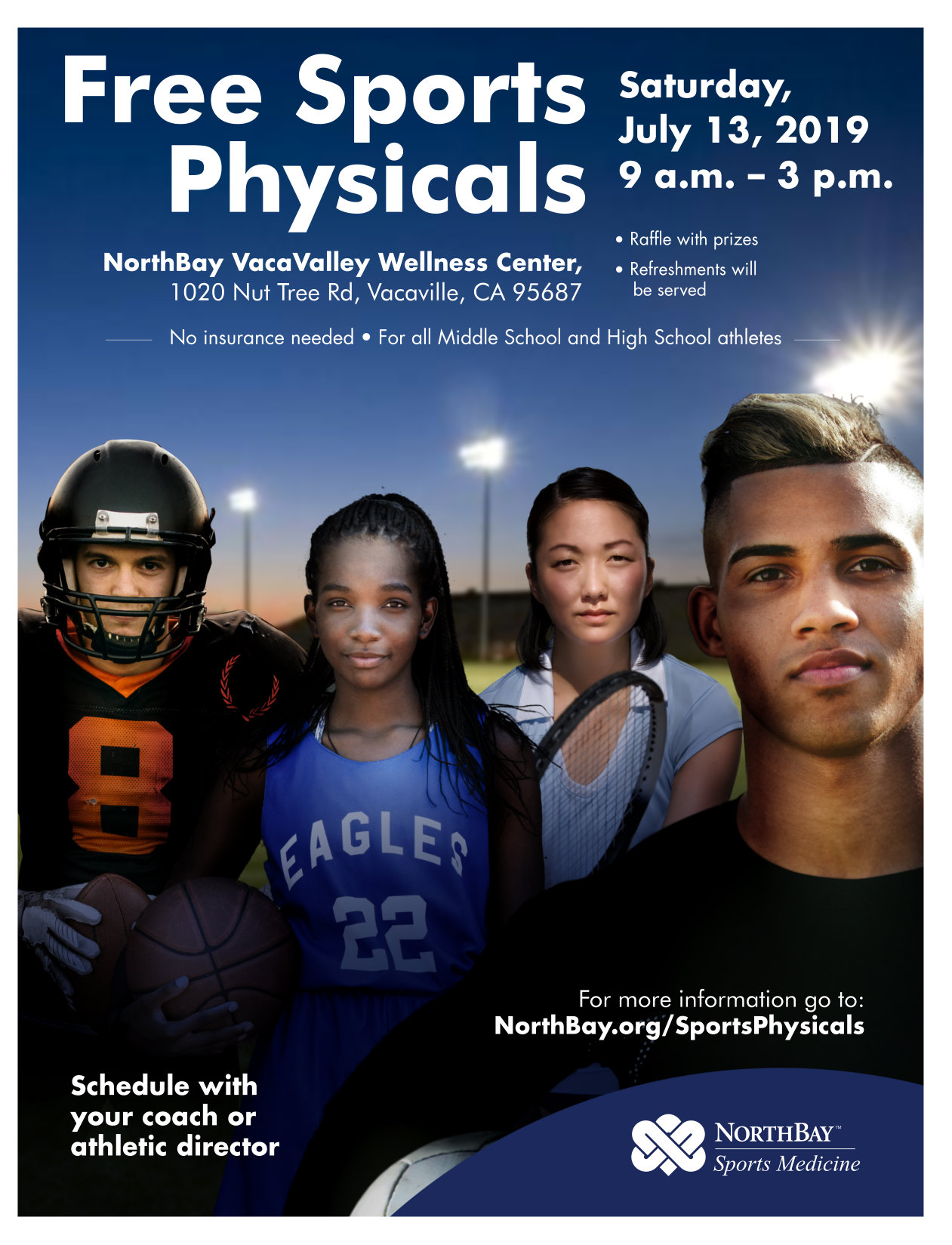 VUSD FREE Sports Physical Day on July 13
