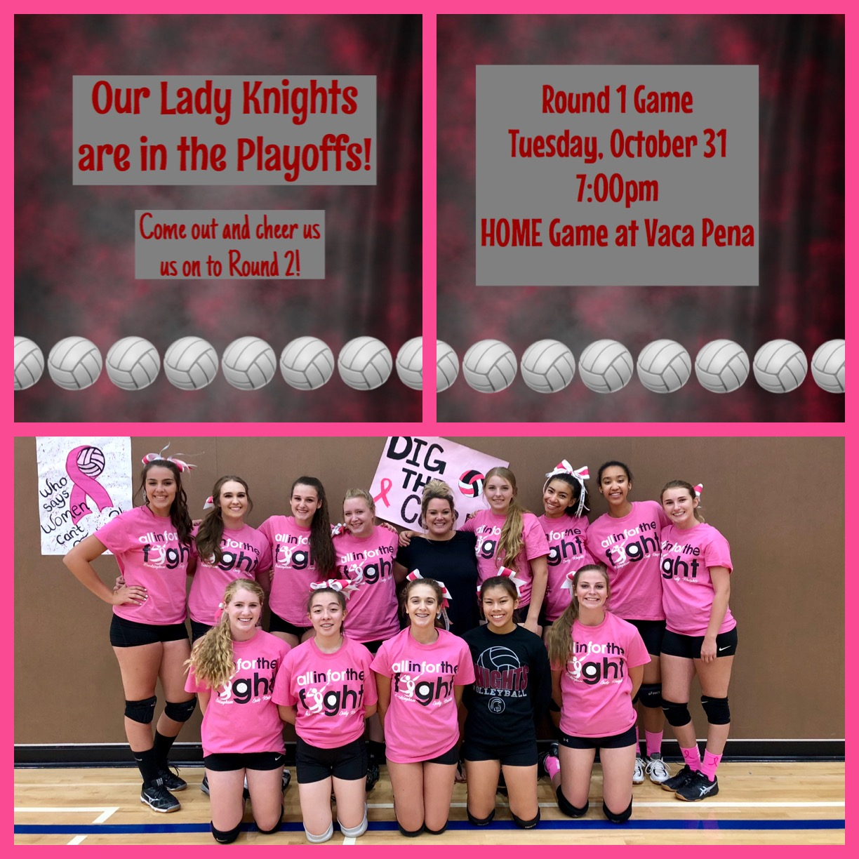 Our lady knights are in the playoffs