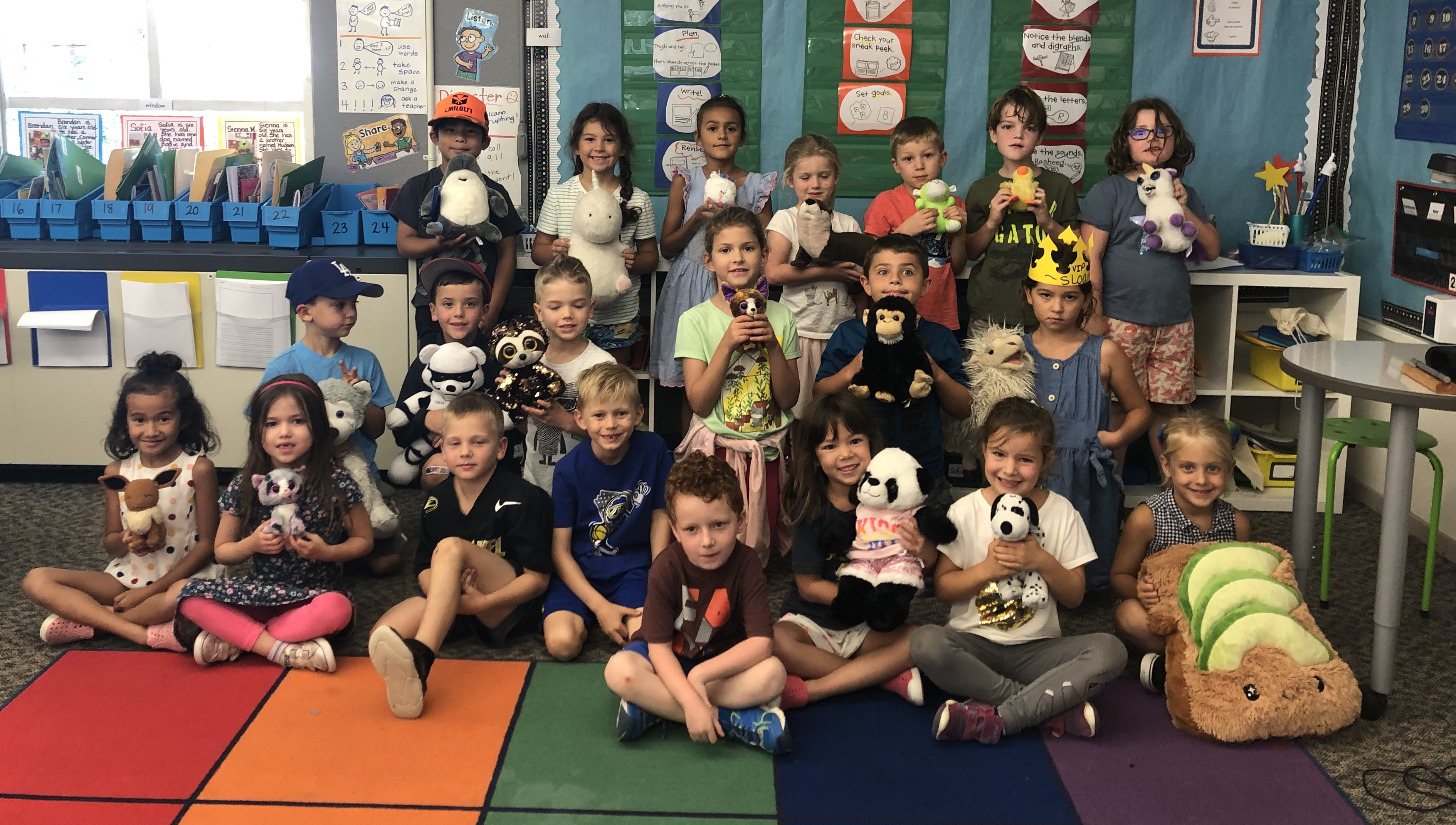 We loved bringing our stuffies to school!