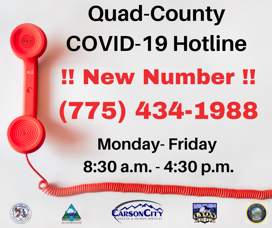 Quad County COVID-19 Hotline Information - Phone Number 7754341988
