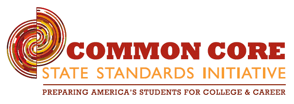 Logo for Common Core State Standards Initiative: Preparing America's Students  for College & Career
