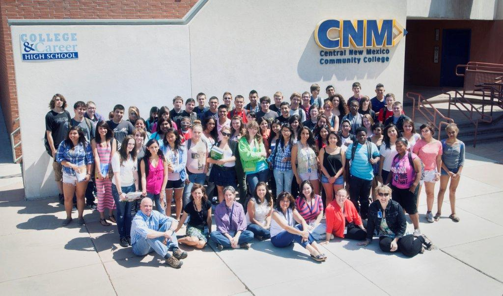 Students and faculty on the school campus