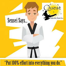 logo quest martial 100% effort