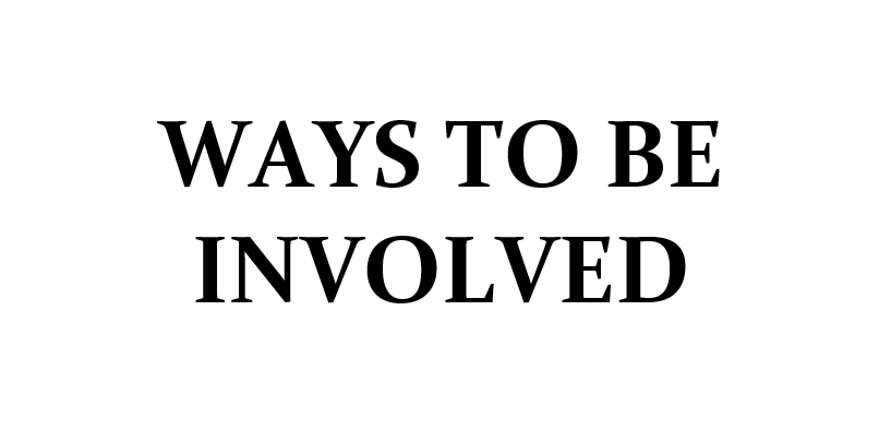 ways to be involved