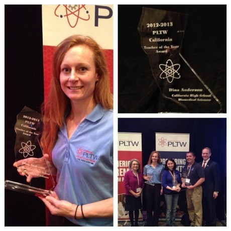 Dina Anderson California PLTW Biomedical Teacher of the Year 2013
