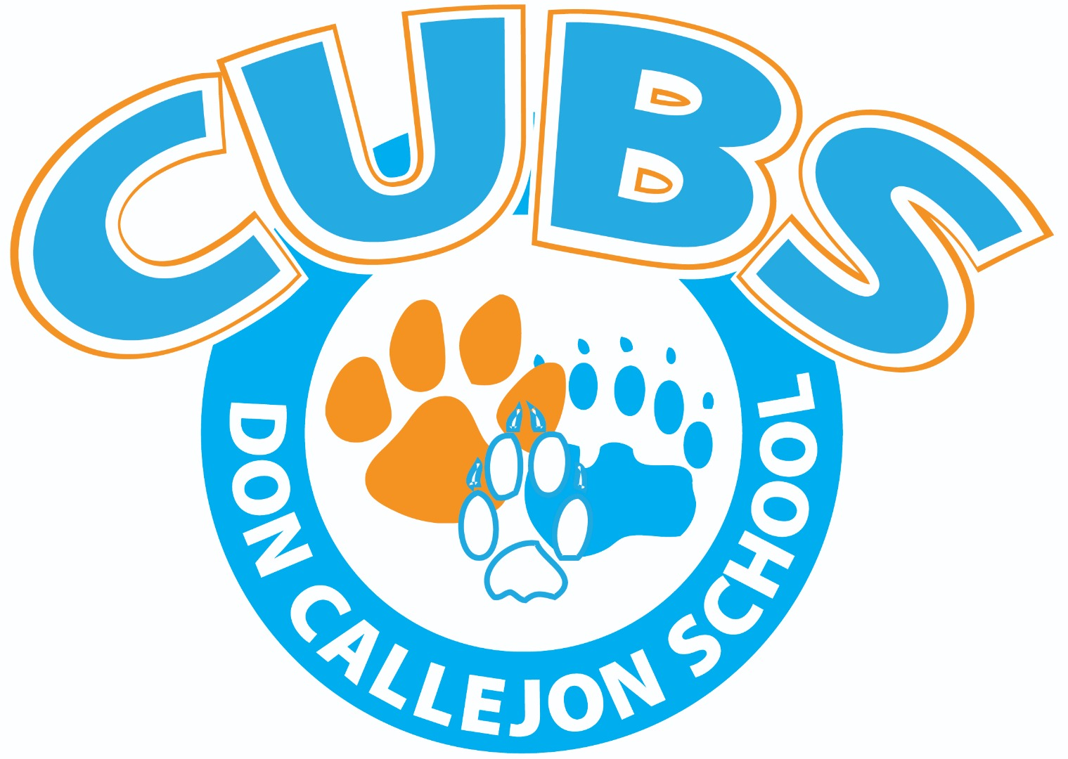 Blue and Orange School Cubs Logo
