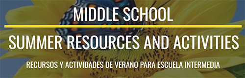 Summer Resources: Middle