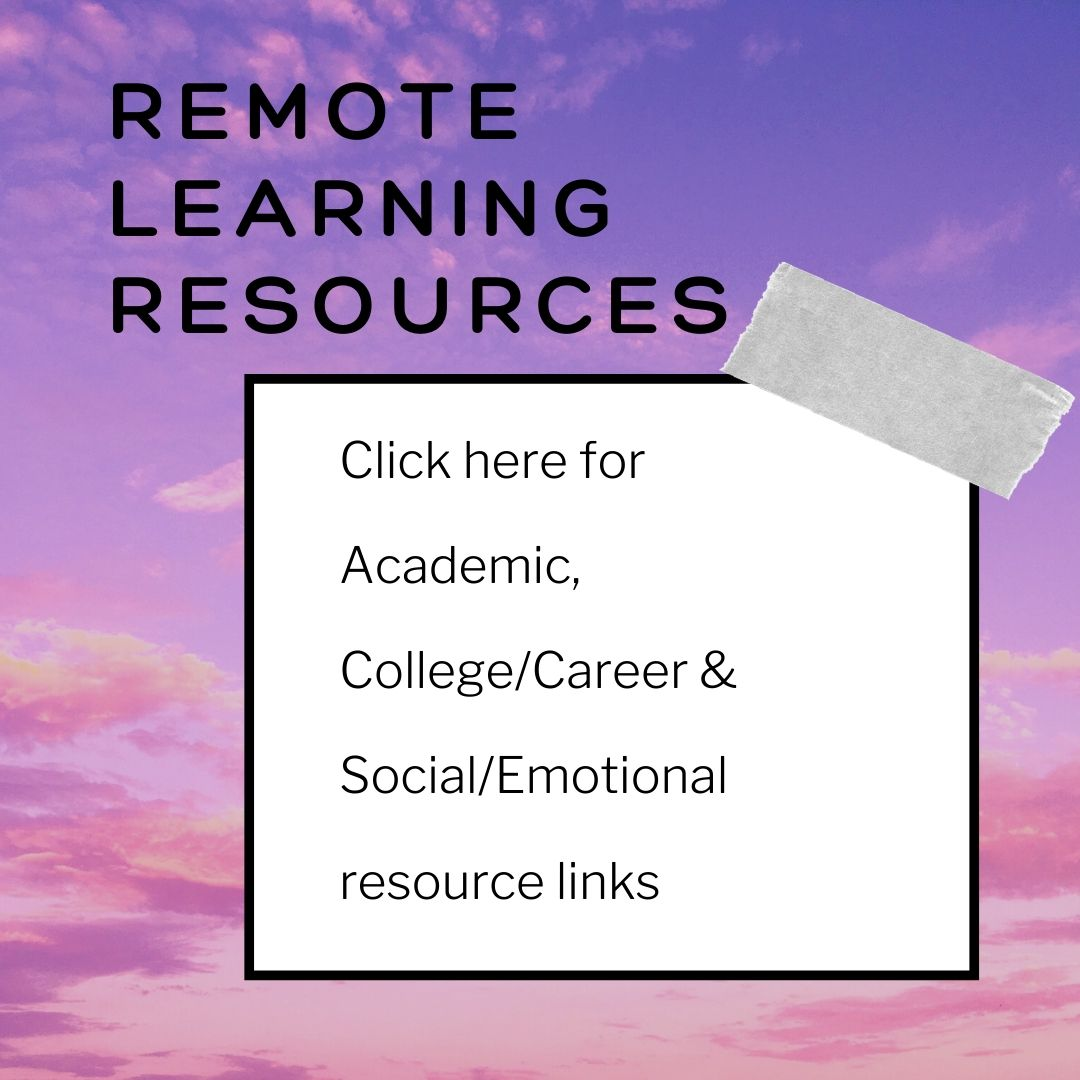 Remote learning resources, click image for useful links