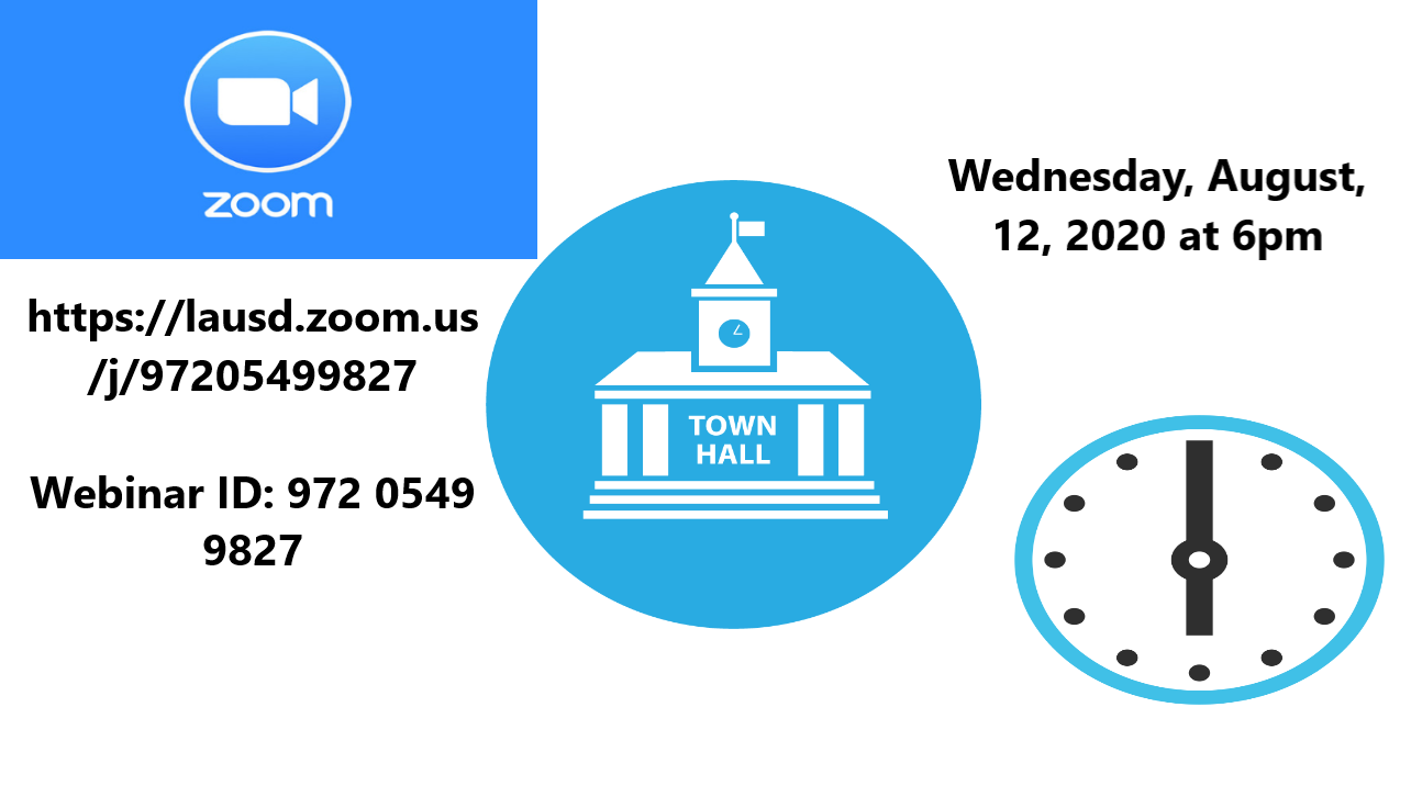 Times for the Town Hall meeting