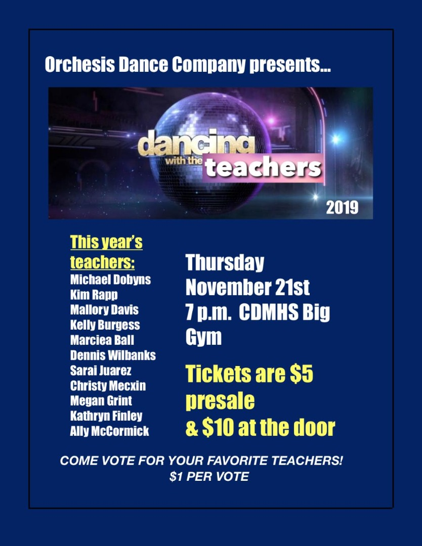 Dancing with the Teachers flyer
