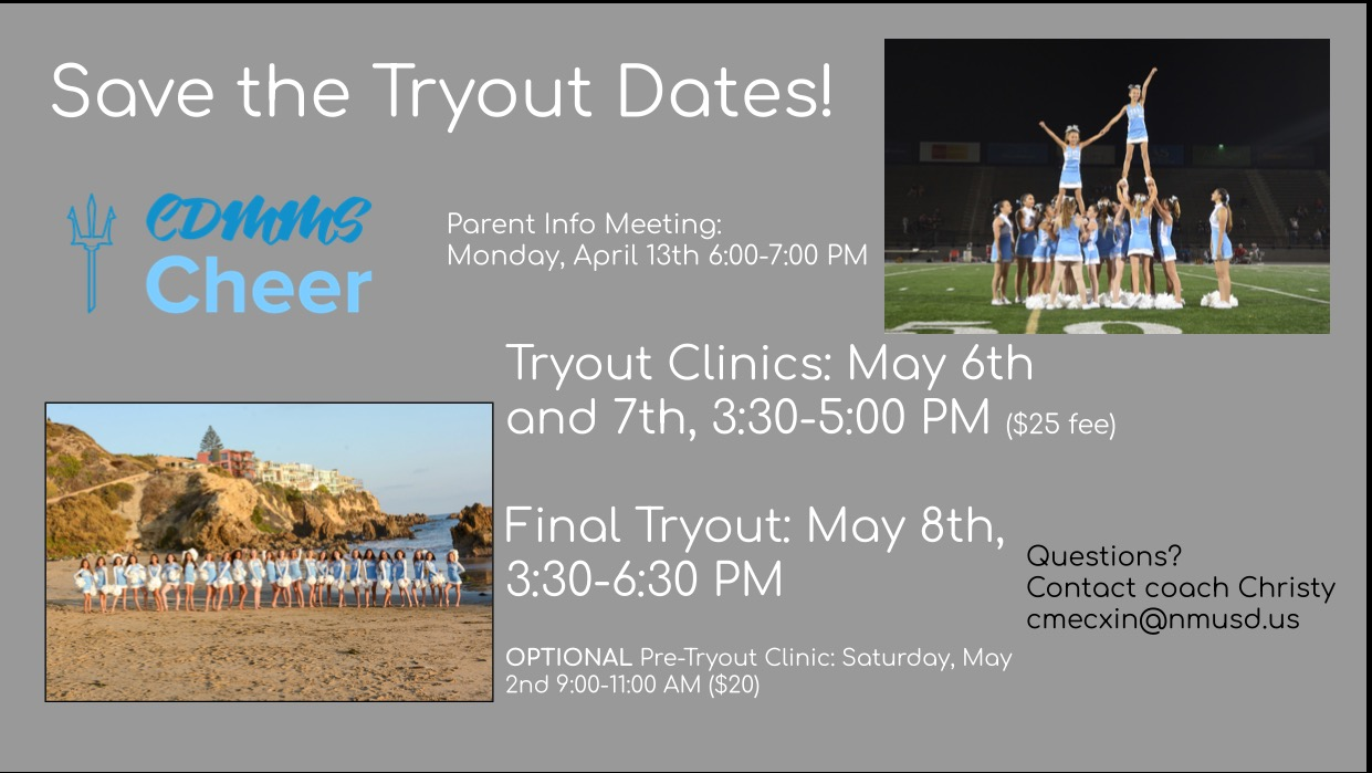 MS Cheer Tryouts flyer