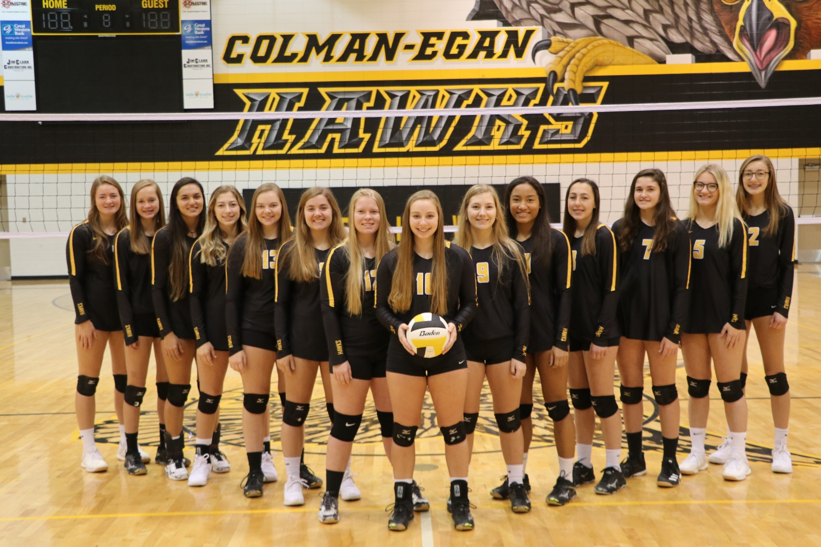 Hawks Volleyball Team 2018-2019