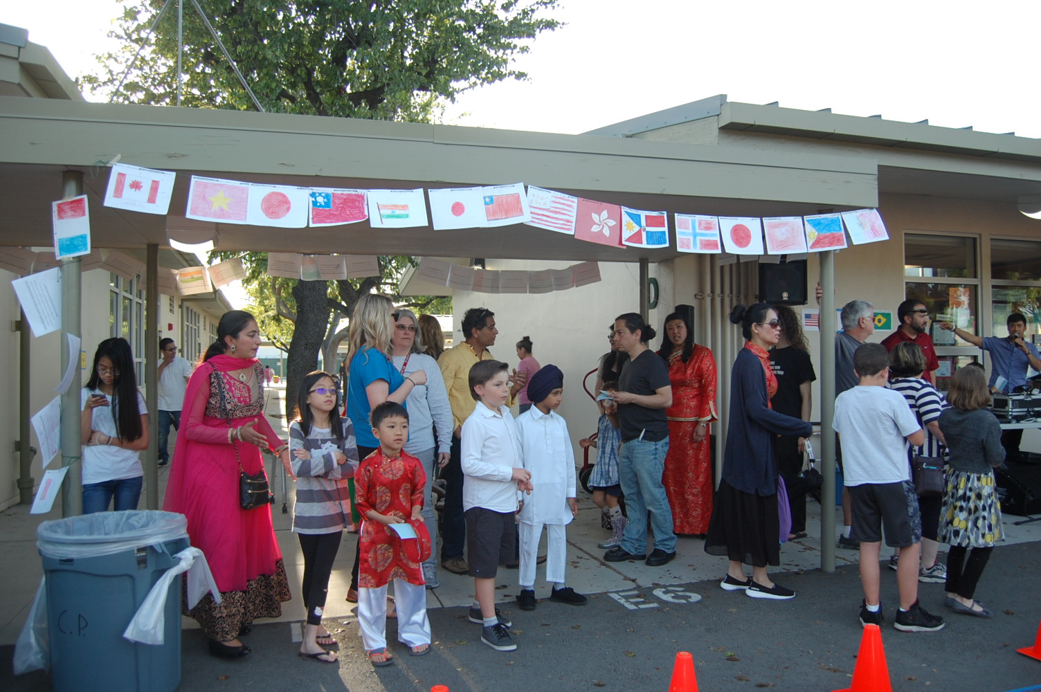 Multicultural Night 2017 flags