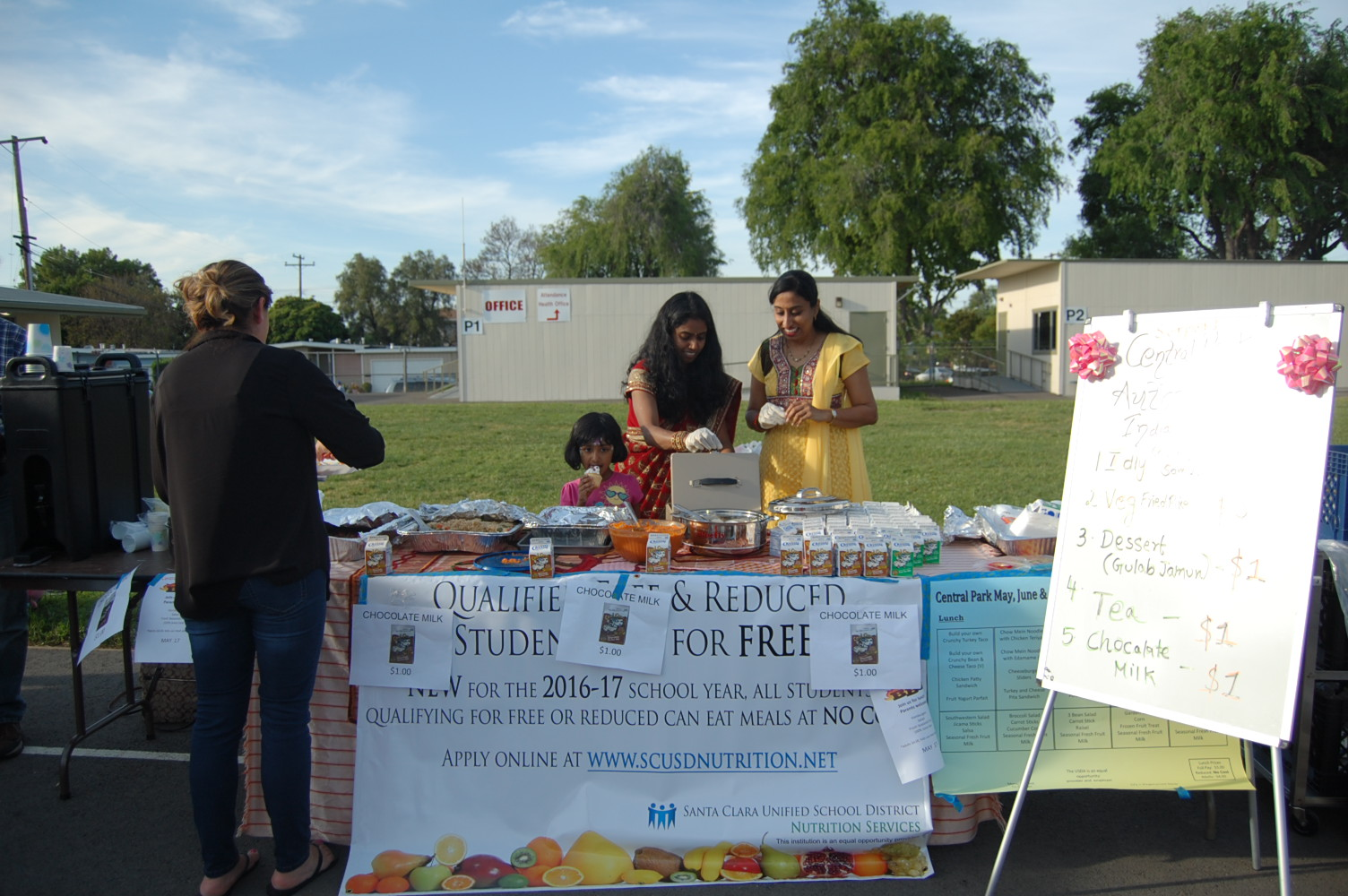 Multicultural Night 2017 food