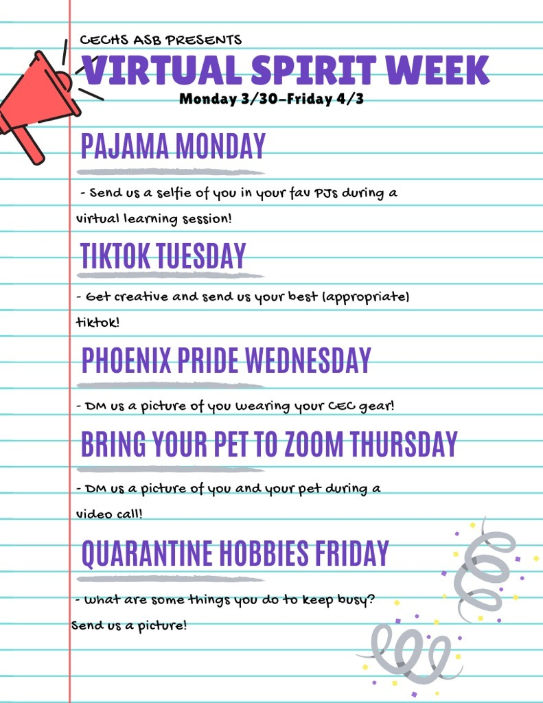 Theme days for week of Mar 30