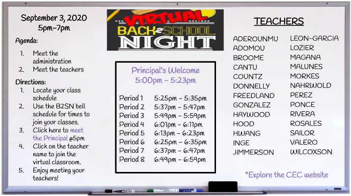virtual whiteboard for Back to School Night