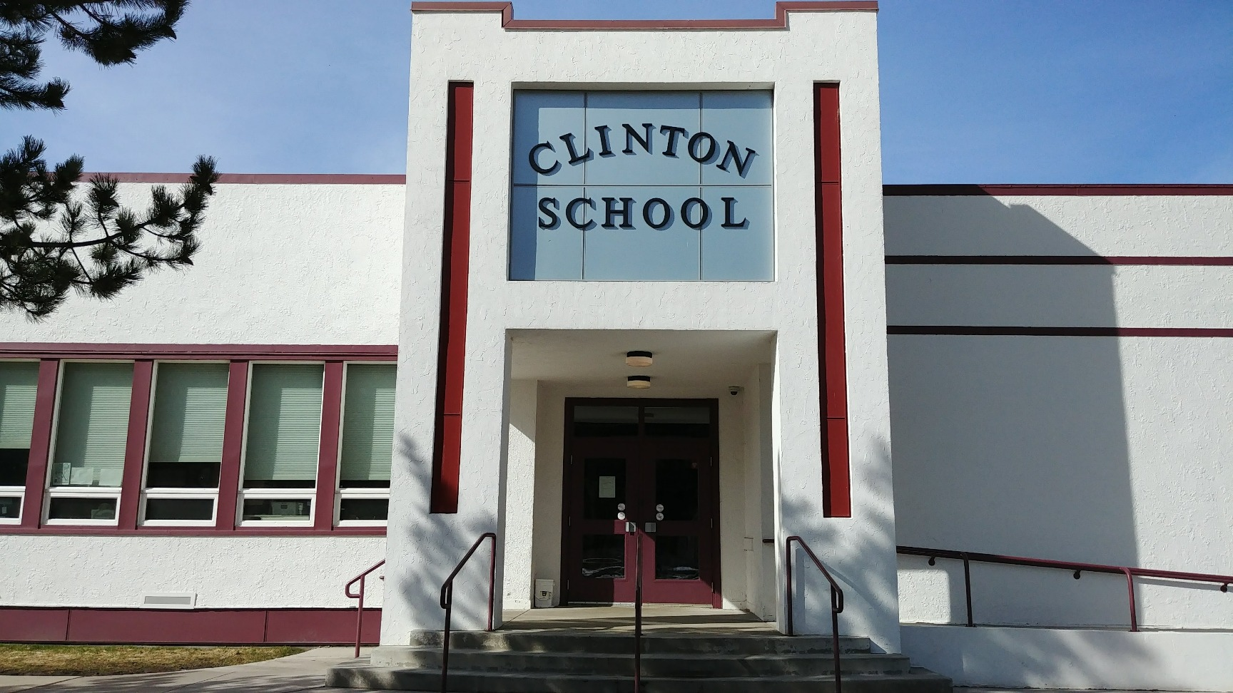 Clinton Elementary School entrance