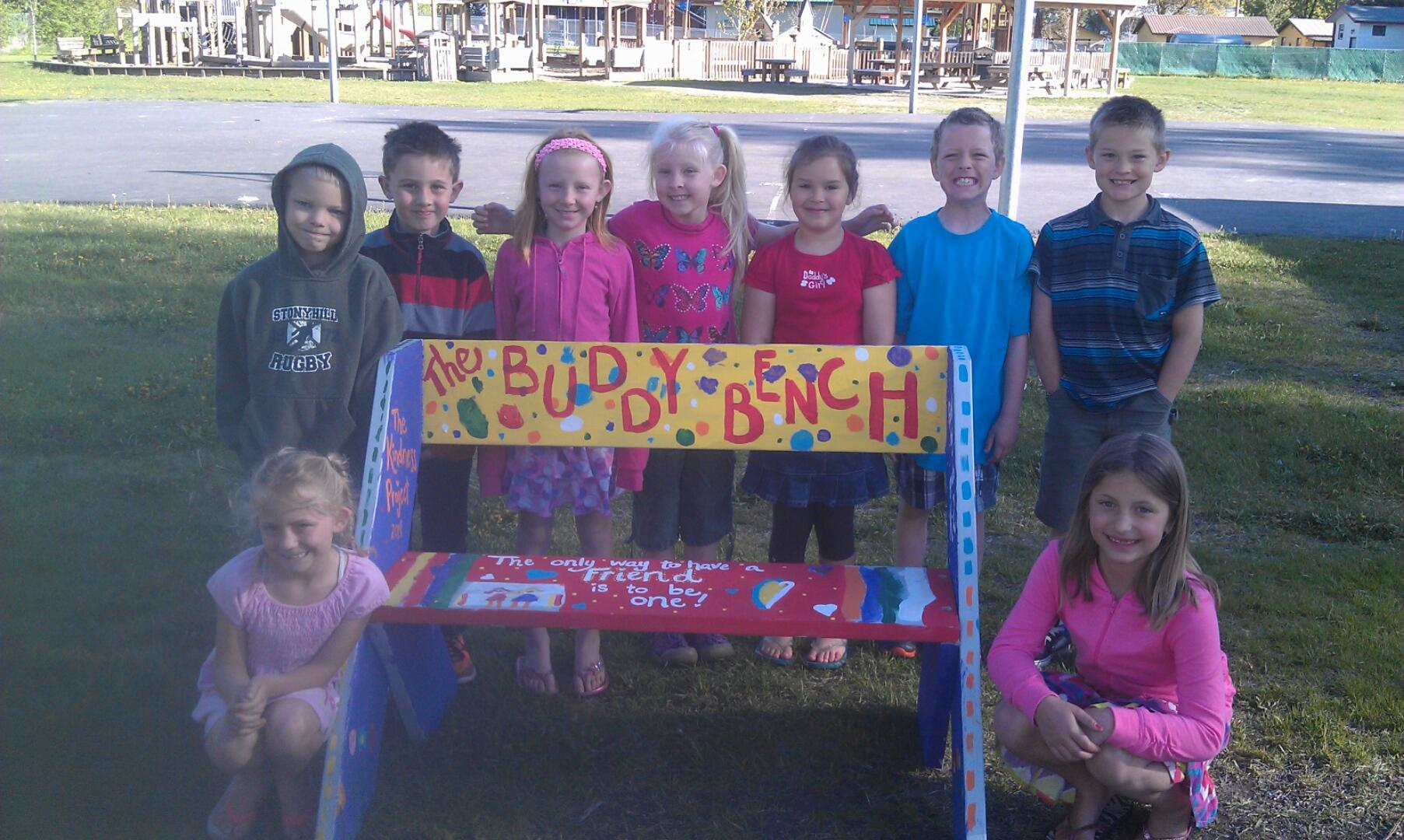 Our K-2 Classes decorated The Buddy Bench last year during