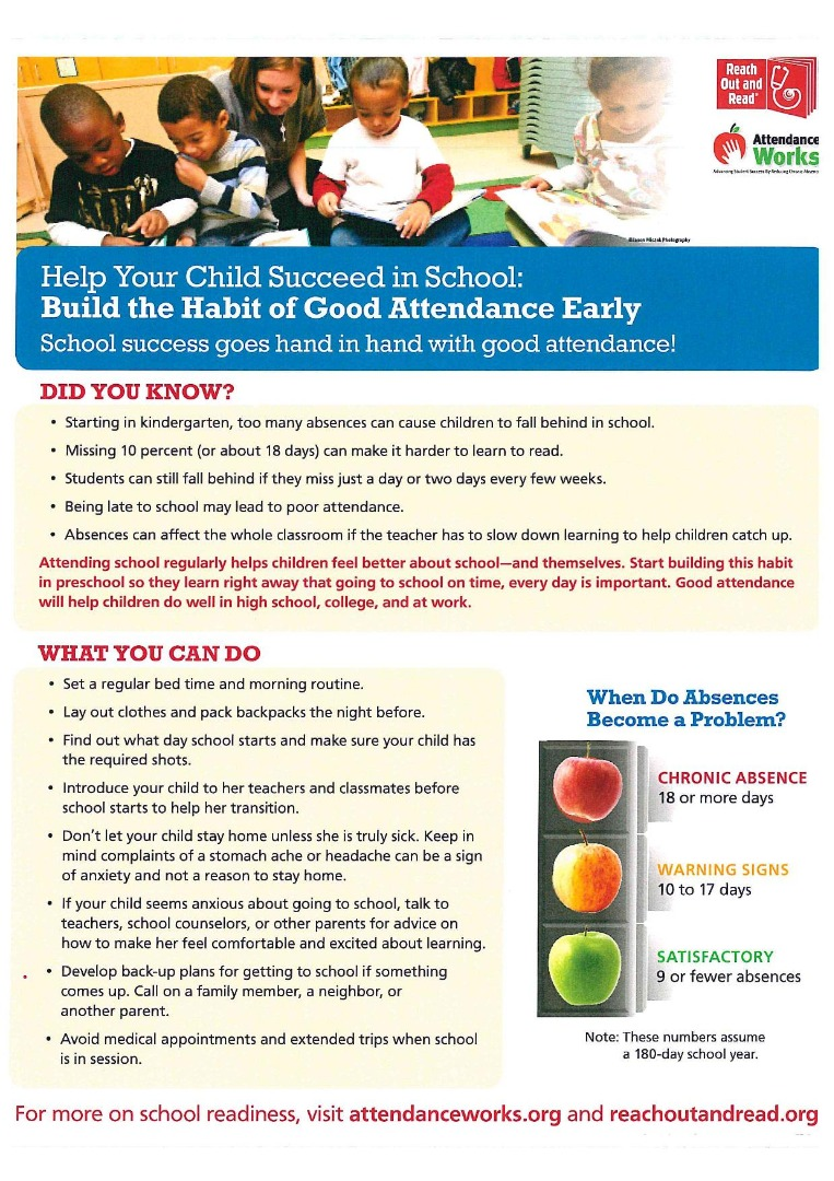 Help your child succeed. Build the habit of good attendance.