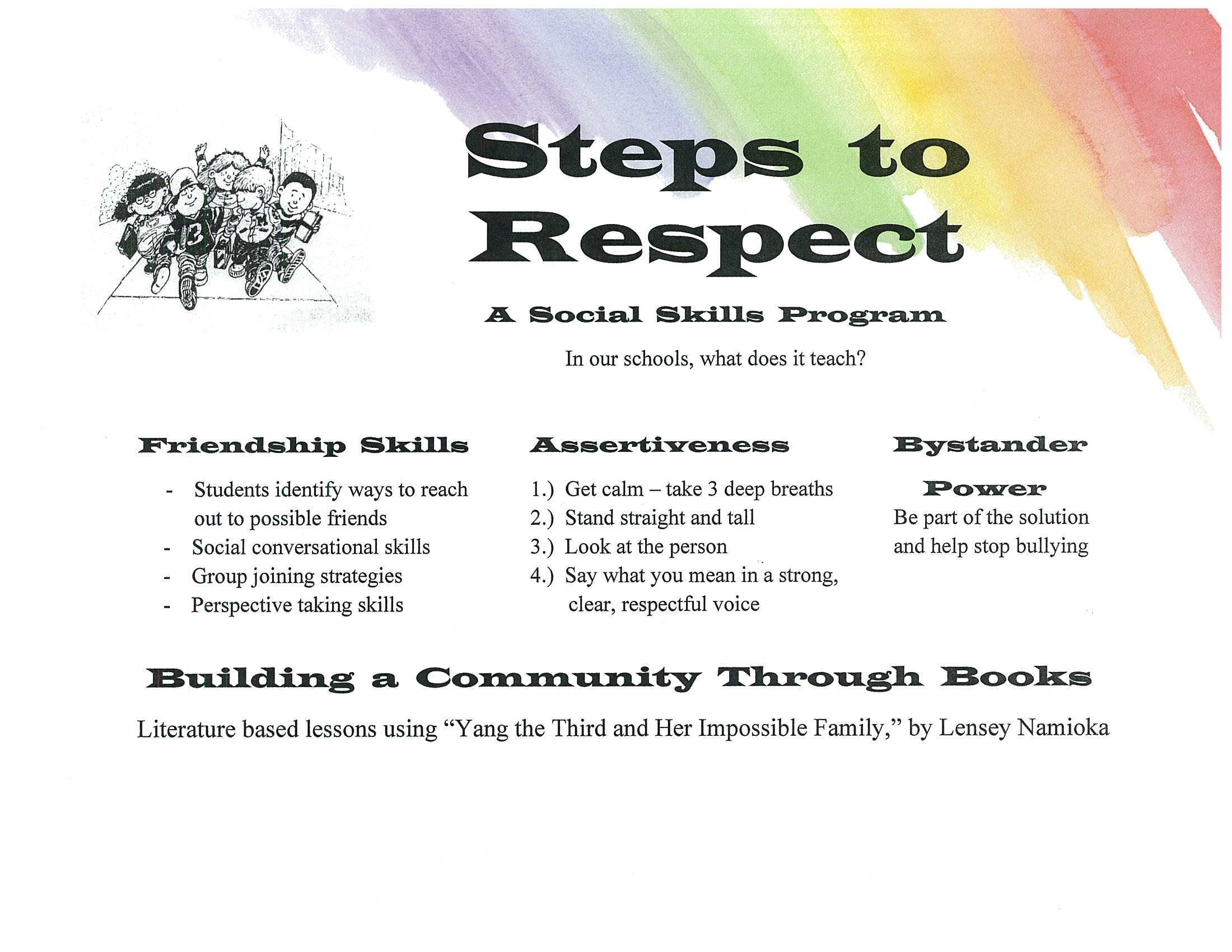 Rainbow Steps to Respect Flyer