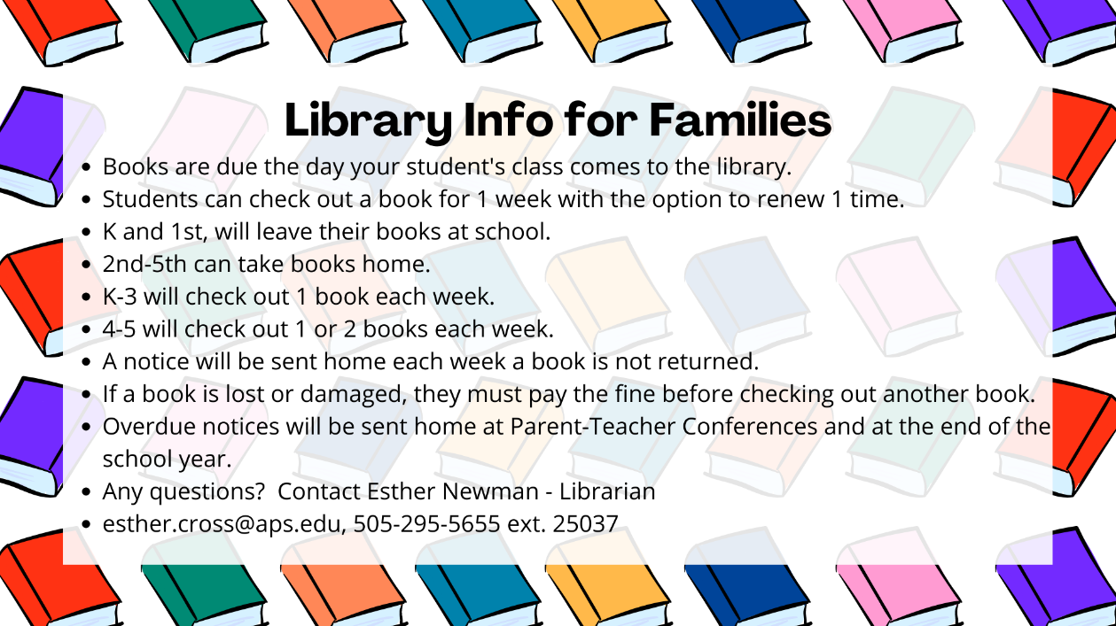 Library Info for Families
