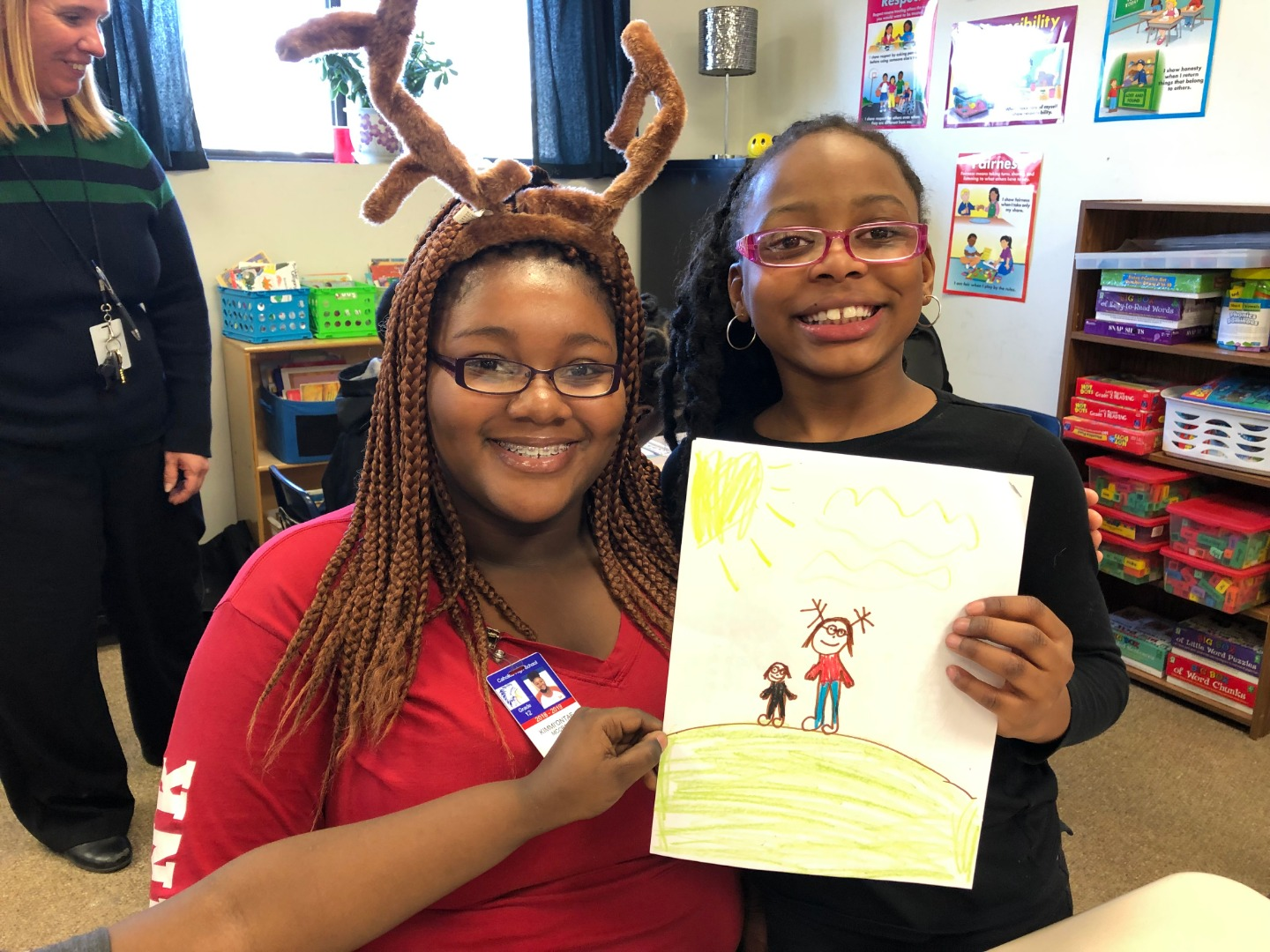 Elf Kimmi McCray spreads holiday cheer.