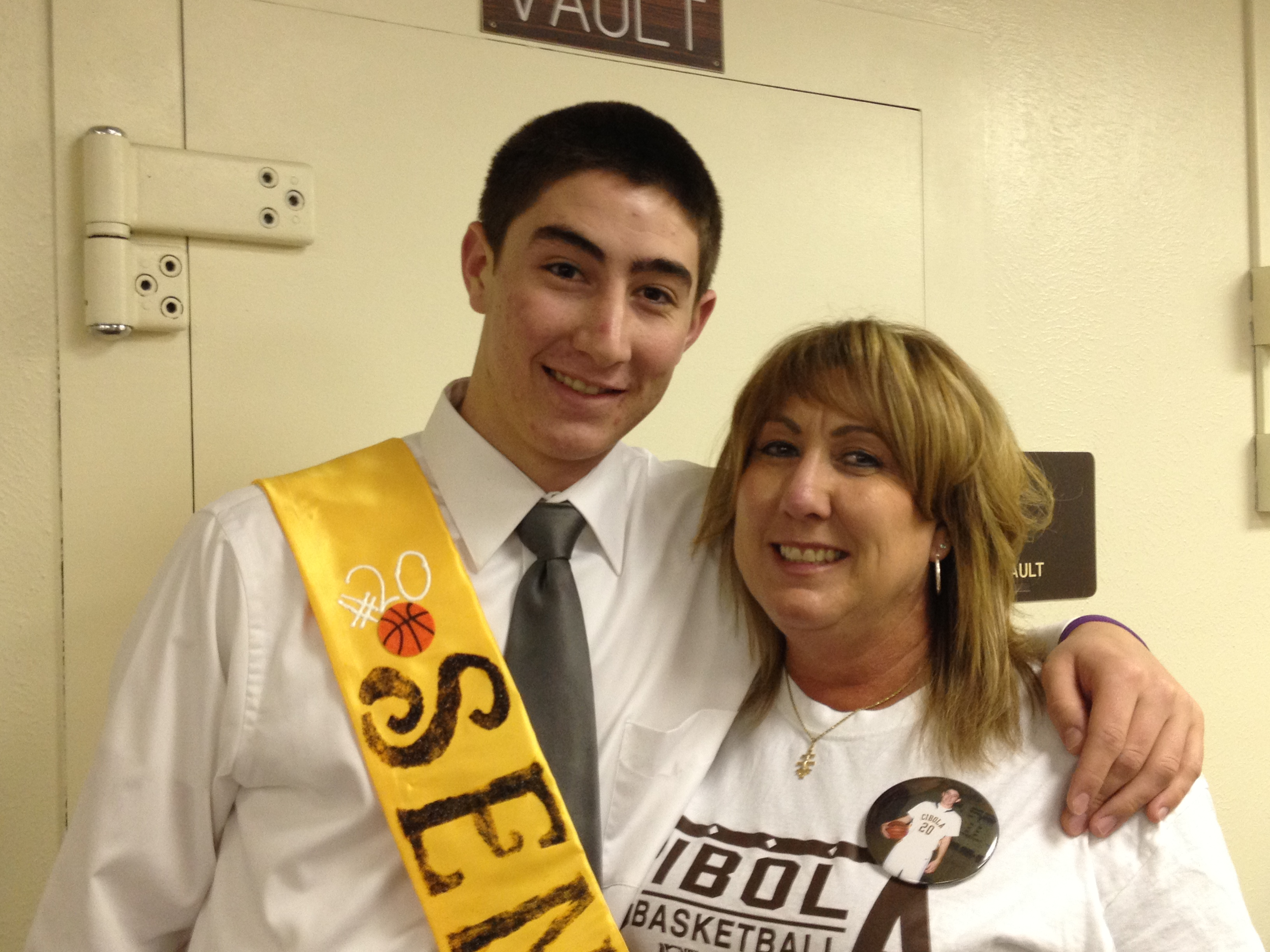 Croix and his mom Sr. day.JPG