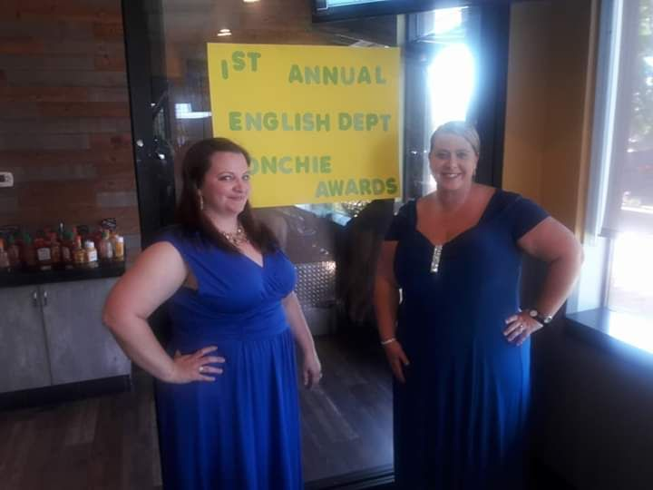 English Department Chairs - Ms. Dell and me