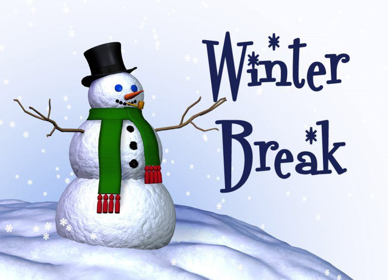 Winter Break December 21-January 6. Students return to school on January 7th.