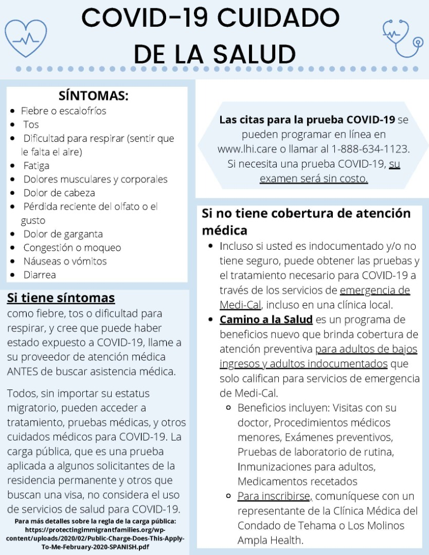 COVID 19 health care spanish
