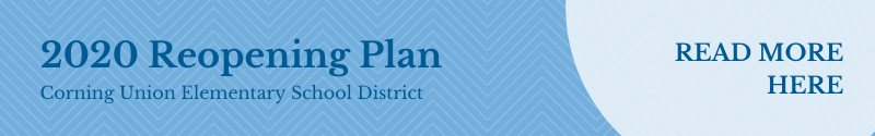 CUESD Reopening plan graphic