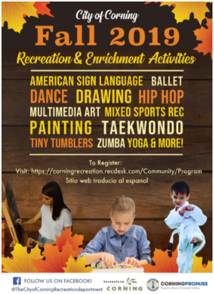 Corning Recreation Fall 2019 Classes
