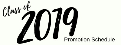 2019 Promotion Schedule