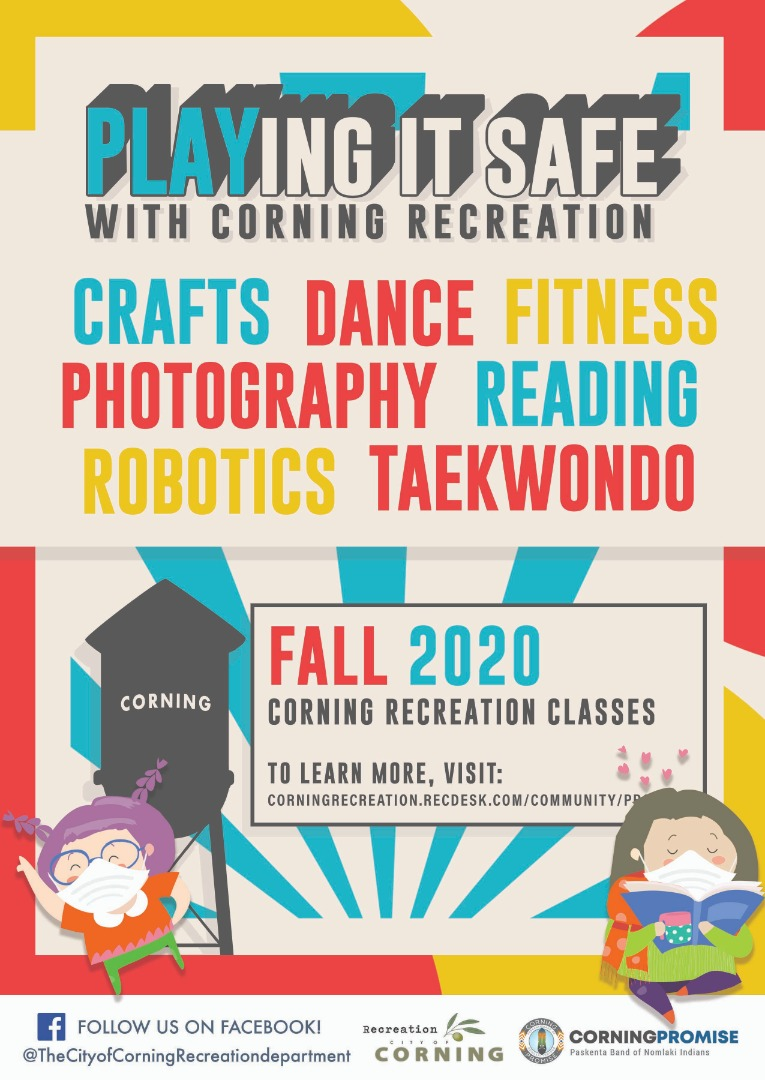 Fall 2020 Corning Rec Classes