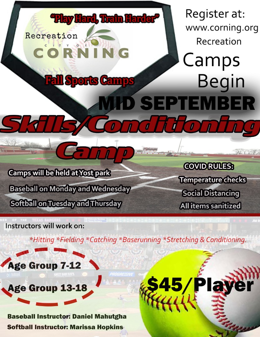 corning Rec Skills Conditioning Camp